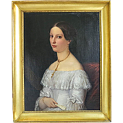 Biedermeier painting oil on canvas, ca. 1830