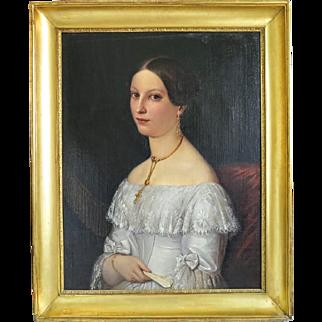 Biedermeier painting oil on canvas, ca. 1830