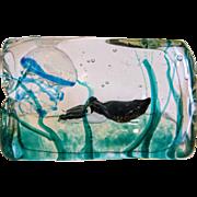 Alfredo Barbini for Gino Cenedese glass block aquarium, ca. 1950