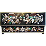 Antique Karlsbad Pietra Dura box, 19th century
