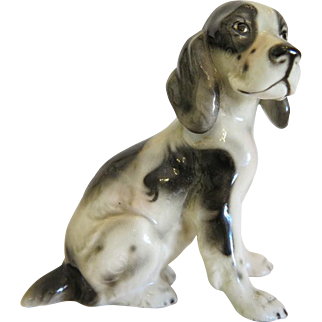 Spaniel crafted by Keramos Austria, ca. 1930