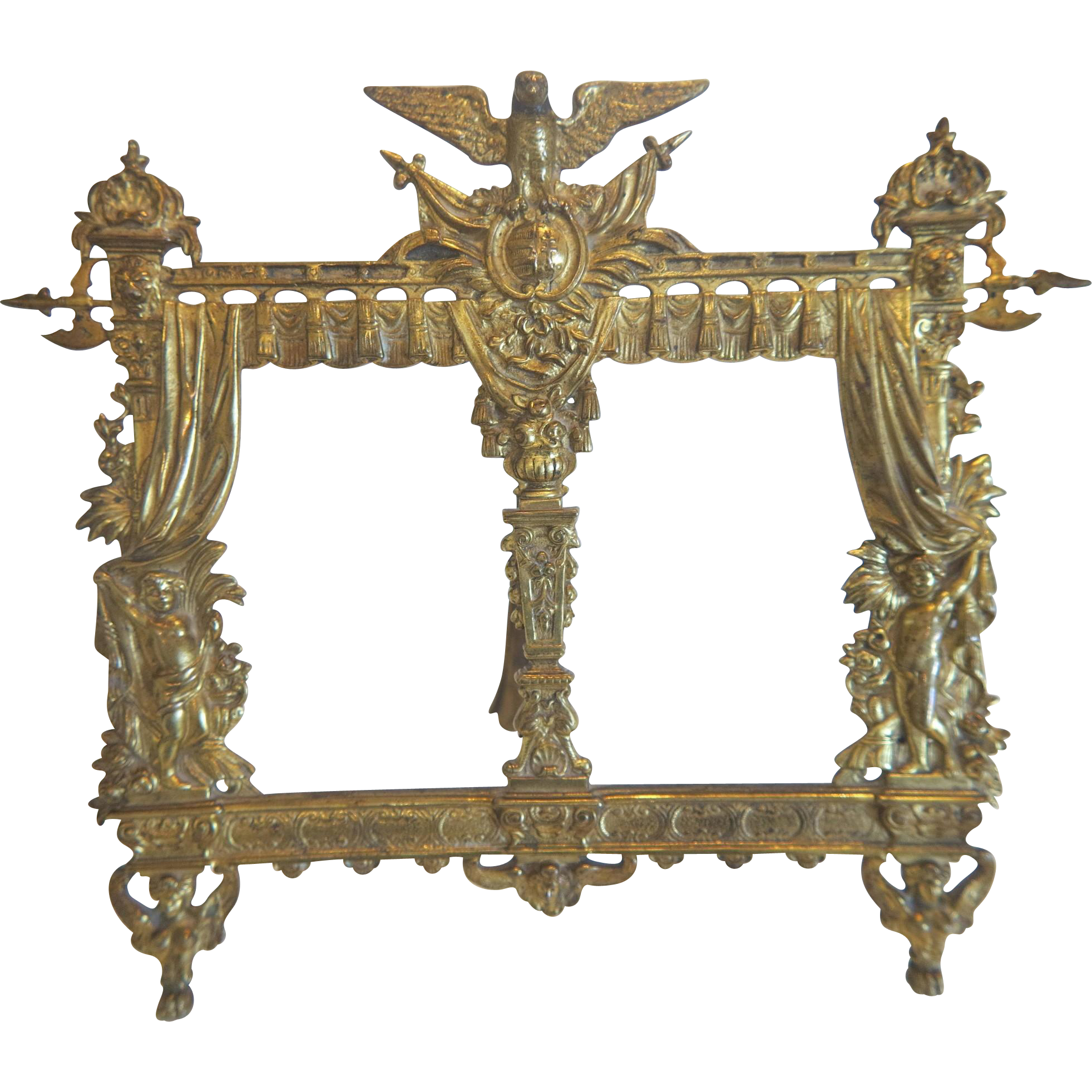 Antique Napoleon III Gilt Bronze frame, 19th century