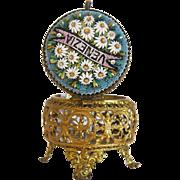 Antique Micro Mosaic casket, gilt metal, 19th century