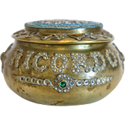 Antique Micro Mosaic box, gilt metal, 19th century