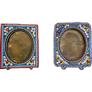 Antique Micro Mosaic frames, 19th century