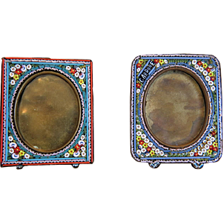 Antique Micro Mosaic frames, 19th century