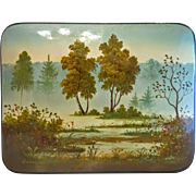 Russian Feodoskino lacquer box, 20th century