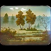 Russian Feodoskino lacquer box, 20th century