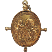 Gilt silver pendant depicting Saints, ca. 1750