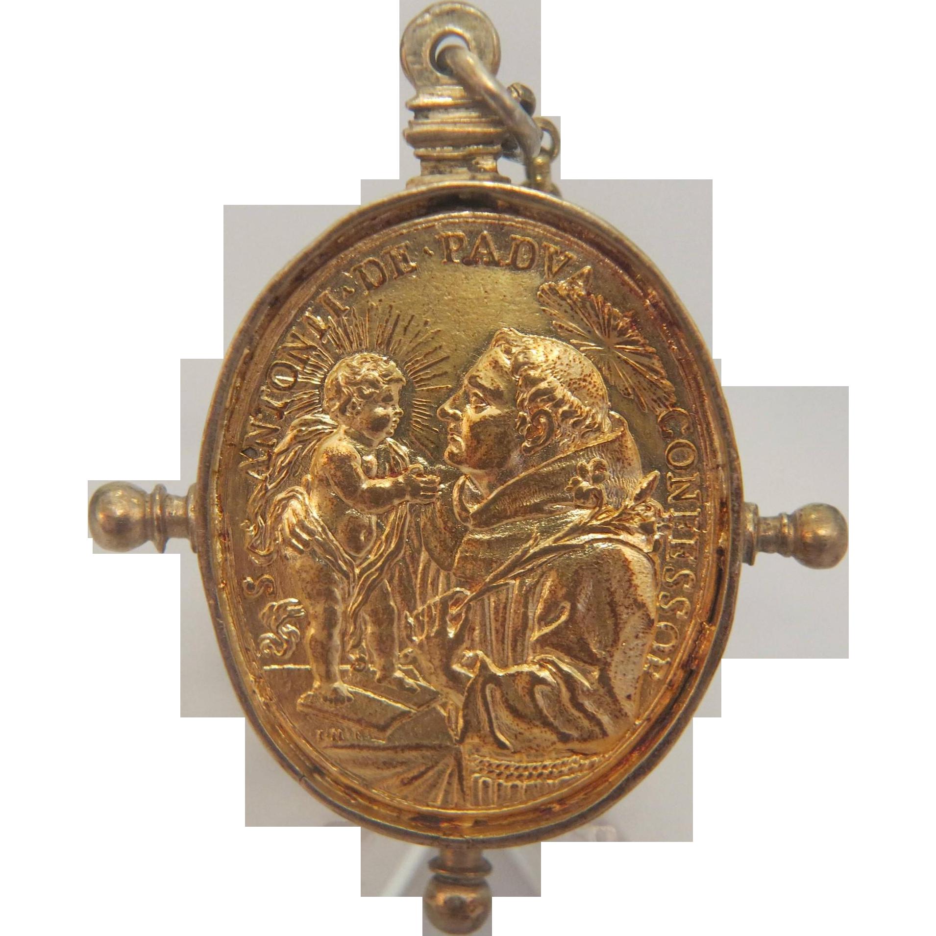 Gilt silver pendant depicting Saints, ca. 1750