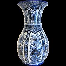Italian Ardalt  Delfia porcelain vase , hand painted,  mid 20th century