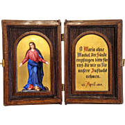 Antique Diptych depicting the Madonna, dated at 1868