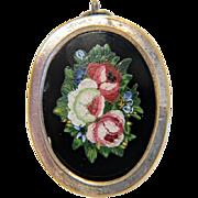 Antique Micro Mosaic silver box , 19th century