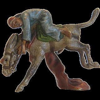 Antique Vienna Bronze figure of a riding Arab, 19th century
