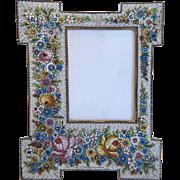 Grand Tour Era Micro Mosaic flower frame, 19th century