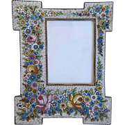 Grand Tour Era Micro Mosaic flower frame, 19th century - Red Tag Sale Item