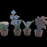 Four Vienna Bronze flower pots, early 20th century