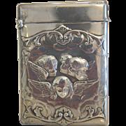 A fine antique London silver cigarette case, dated 1898