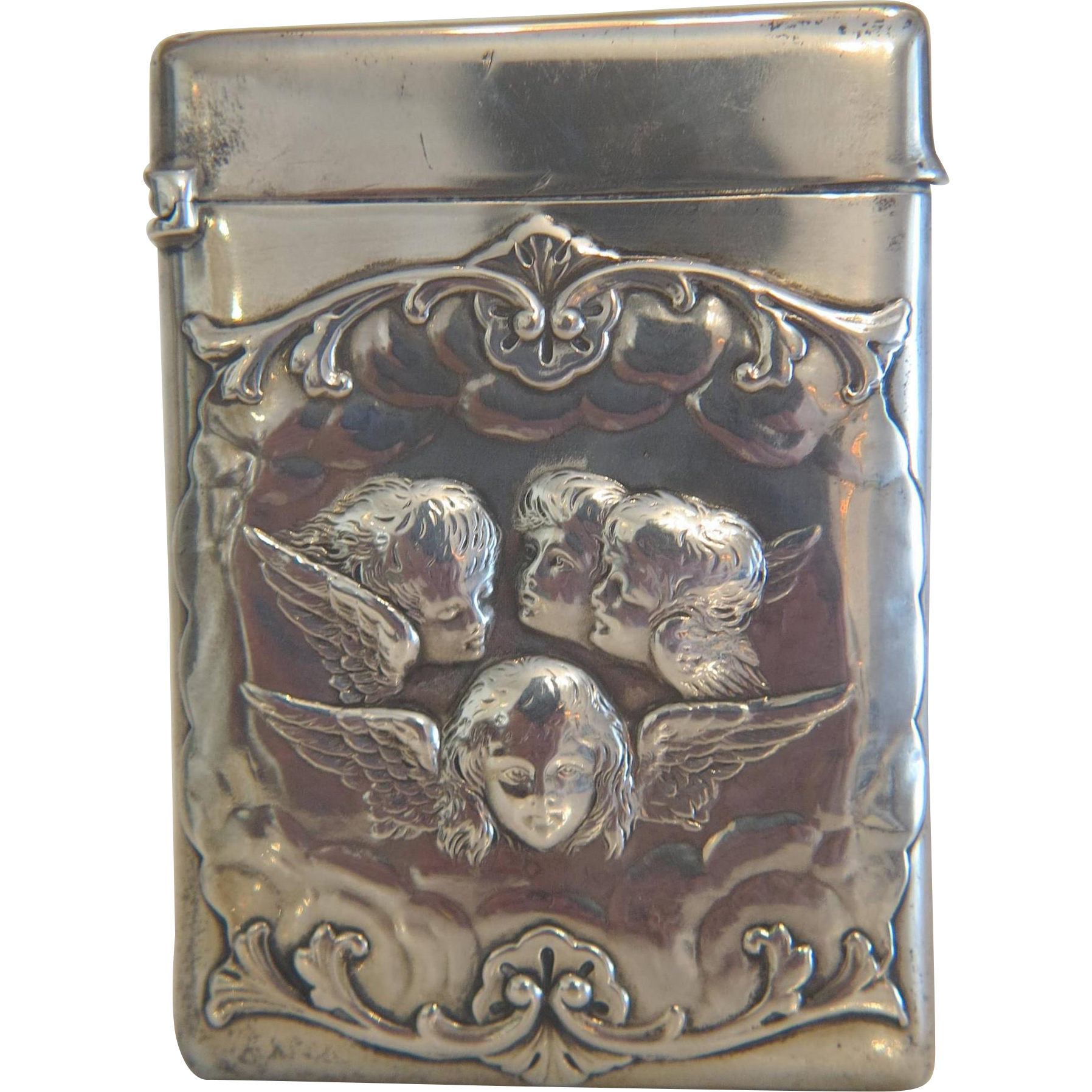 A fine antique London silver cigarette case, dated 1898