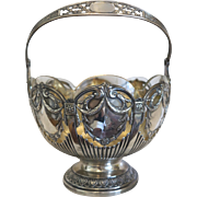 Antique Viennese silver bowl with glass liner,19th century
