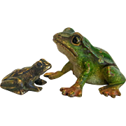 Antique Vienna Bronze frogs, early 20th century
