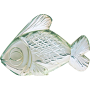 Antique figure of  a green glass fish, late 19th century