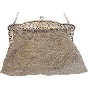 Art Nouveau silver purse, hallmarked 925, ca.1900