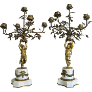Empire Gilt Bronze candelabra, first half 19th century