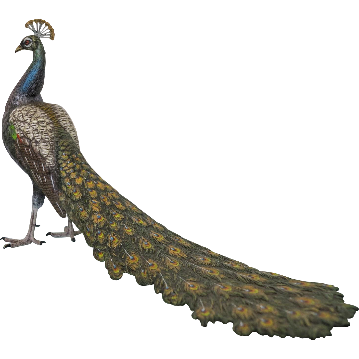 Vienna Bronze figure of a peacock signed Bergmann, 1st half 20th century