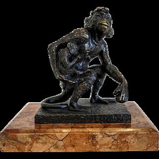 Bruno Zach Bronze sculpture, early 20th century
