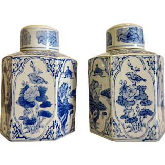 Pair of Chinese export tea caddies, early 20th century