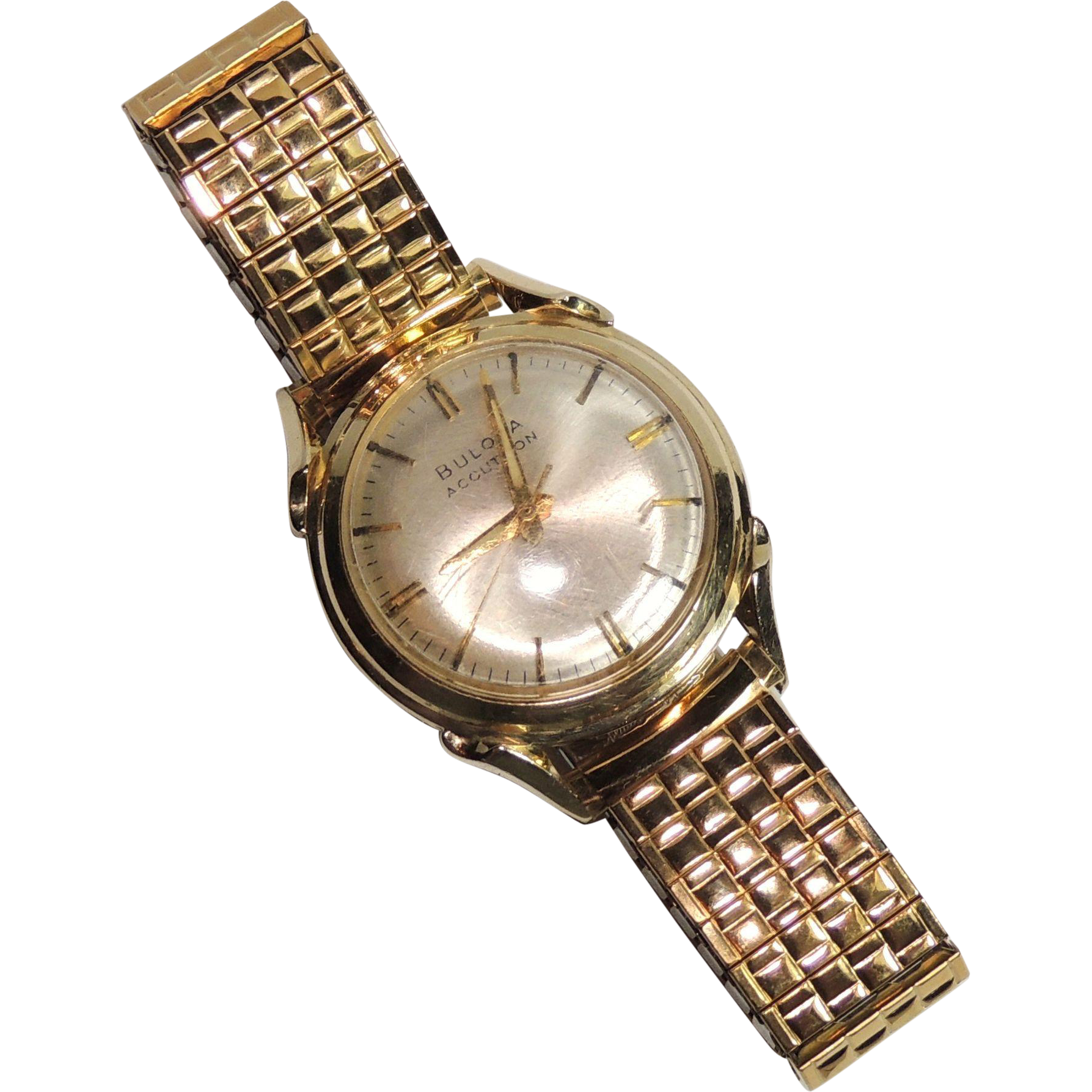 Solid 14k gold bulova accutron wrist watch men 39 s vintage for Best place to sell gold jewelry in chicago