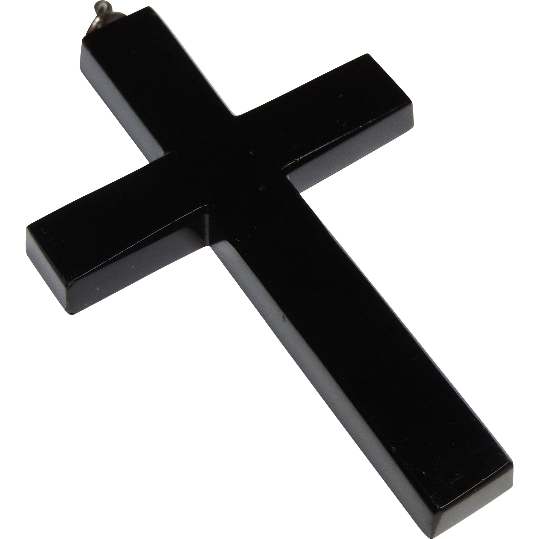 Victorian black onyx cross pendant 275 beveled edges silver bale victorian black onyx cross pendant 275 beveled edges silver bale sold ruby lane aloadofball Image collections