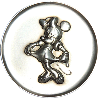 Kirk Sterling Silver Magic of Disney Minnie Mouse Collectible Medallion, Token, Medal 2.37ozt, 1273