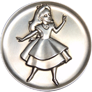 Kirk Sterling Silver Magic of Disney Alice in Wonderland Collectible Medallion, Token, Medal 2.24 ozt, 1273