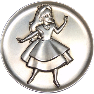 Kirk Sterling Silver Magic of Disney Alice in Wonderland Collectible Medallion, Token, Medal 2.24 ozt, 1273