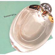 Tiffany & Co Sterling Silver Leaf, Heart Shaped Footed Bowl, Dish, 22898