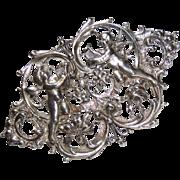 Sterling by Cini Large Cherub Brooch, Pin, Putti, Cherubs, Italian