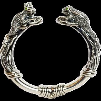 KC Studio, Barry Kieselstein-Cord, Sterling Frog / Toad Prince Hinged Cuff Bracelet