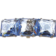 Beautiful French Blue Rock Crystal Buckle