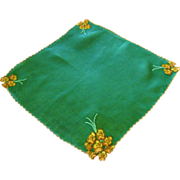 Madeira Trembler Applique Pansy Handkerchief