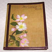 """""""Now is Christ Risen: Poems for Easter Tide"""" Linen, Leather & Hand Painted Book"""