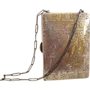 Sterling Silver Compact Dance Purse Vanity Necessaire