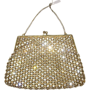 Very Old Small Rhinestone Purse