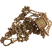 Victorian Ladies Watch Chain with Bi-Color Aesthetic Slide