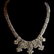 Art Deco Clear Rhinestone Necklace