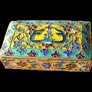 Vintage Cloisonne Enamel Pill Box