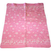 Vintage Pink Wool Baby Blanket Perfect for your DyDee Doll