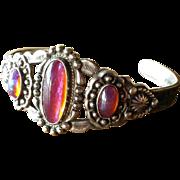 Native American Sterling & Dragon's Breath Bracelet