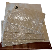 Set of 5 Genuine Nottingham Leavers Lace Placemats